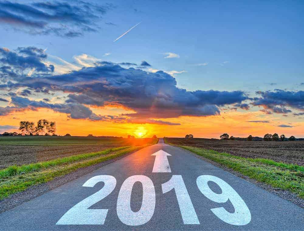 Jahr 2019 Straße Zukunft
